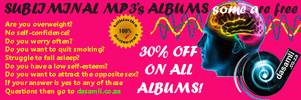 Subliminal mp3s - Subliminal MP3 albums - also in Afrikaans